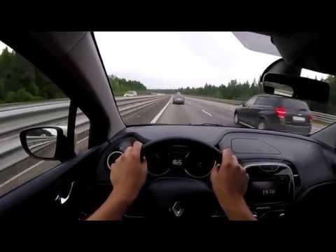 Гоним по трассе Renault Kaptur тест 160 км ч и выше