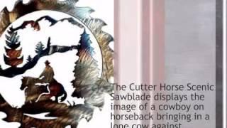 Cutter Horse Scenic Sawblade - 12 - lonestarwesterndecor.com