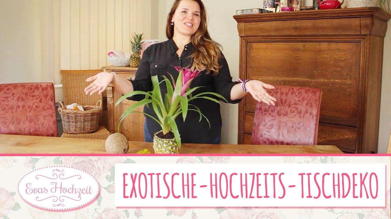 Exotische Tischdeko selber basteln - Hochzeitsdeko DIY - Anleitung ...