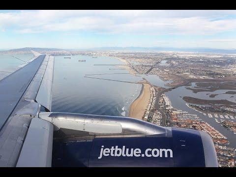 jetBlue Flight B6 147 (OAK-LGB) Landing in Long Beach (N597JB)