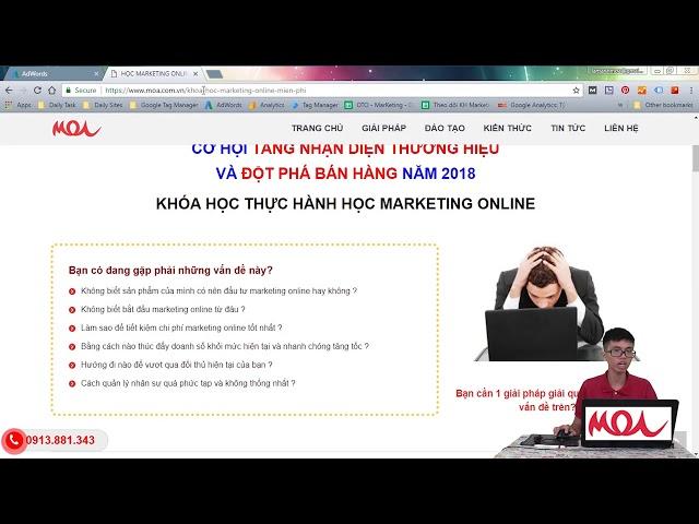 [HỌC VIỆN MOA] [Google AdWords] Tiếp Thị Lại – Remarketing
