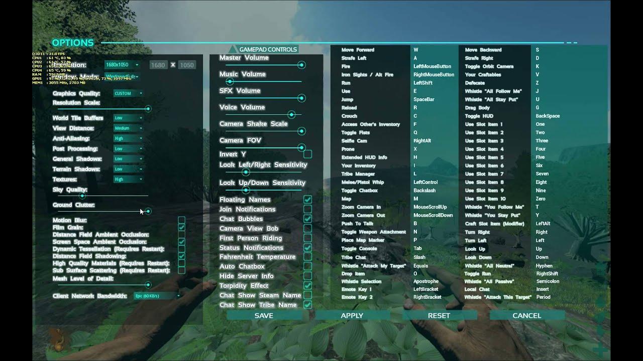 ARK: Survival Evolved - Оптимизация графики/подымаем ФПС - YouTube