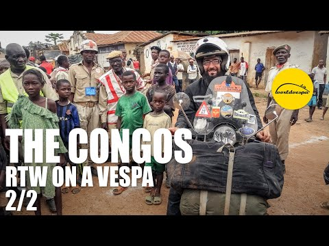 Vespa travel Congo (both Congo & DRC) (part 2/2)