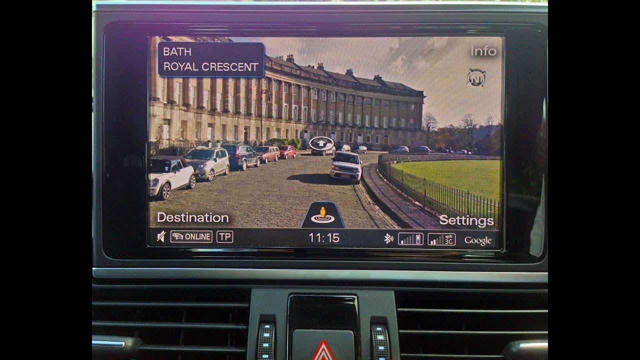 Audi Mmi 3g Plus Google Streetview Youtube