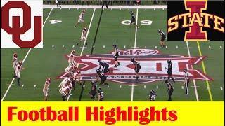 Oklahoma Vs Iowa State 2020 Big 12 Football Championship Game Highlights