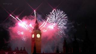 London Fireworks 2012 in full HD - New Year Live - BBC One