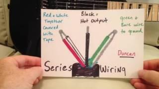 seymour duncan humbuckers: series vs parallel wiring - youtube  youtube