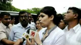 Hirunika premachandra wants to see her father's killing suspect