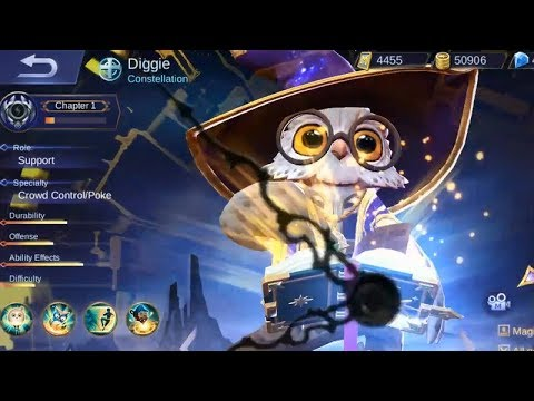Finally Diggie Elite Skin Constellation Gameplay Is Here (The Wizard Owl) - Mobile Legends
