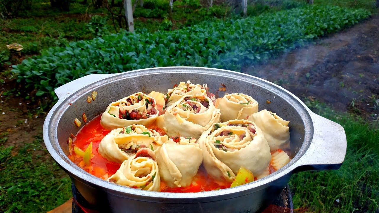 Gül Xanum-Özbək Mətbəxi, Cəmi 5 Manata Başa Gəldi | Гуль Ханум | Uzbek Food