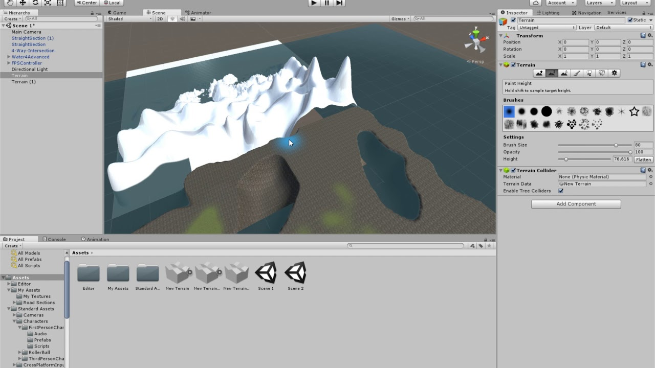 Video Game Design: Making a Cave Go Under the Terrain with Unity and Blender