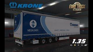 "[""ETS2"", ""ets2"", ""1.35.1"", ""1.35"", ""euro truck simulator 2"", ""trailer"", ""náv?s"", ""Krone"", ""MegaLiner"", ""Lowdeck""]"