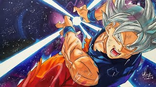 Drawing Goku Mastered Ultra Instinct - Dragonball Super - 35K SPECIAL