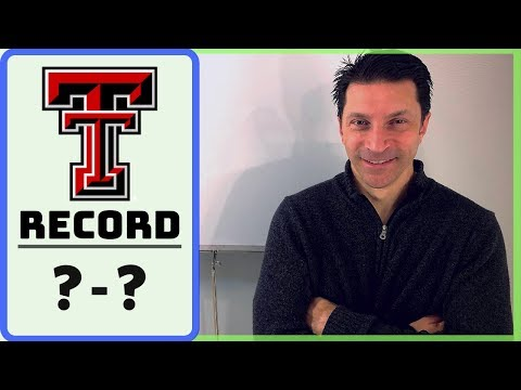 2019 Texas Tech Red Raiders RECORD PROJECTION & SCHEDULE RANKING