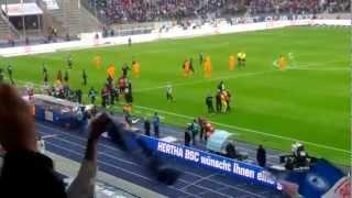 Raffael schießt das 3:1 für Hertha BSC Berlin gegen Hoffenheim