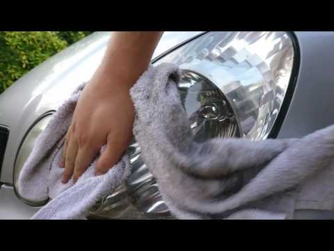 Cleaning Headlights with Autosol metal polish