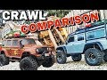 Traxxas TRX-4 -vs- UPS Axial SCX10 Track Course Comparison