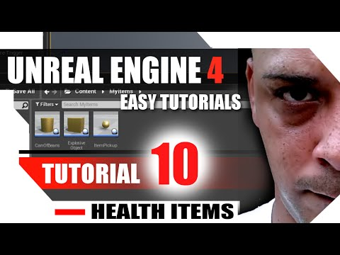 Unreal Engine 4 Complete Tutorials - Tutorial 10 - Health Bar and Health Items thumbnail