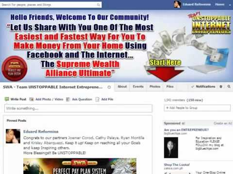 Promote using Facebook Group Pages - Team Unstoppable Internet Entrepreneurs