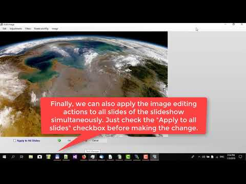 How to make image editing with Picture Slideshow Maker 4dots