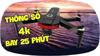 LKRC - Review Flycam X46G Thông Số Camera 4K Bay 25 Phút