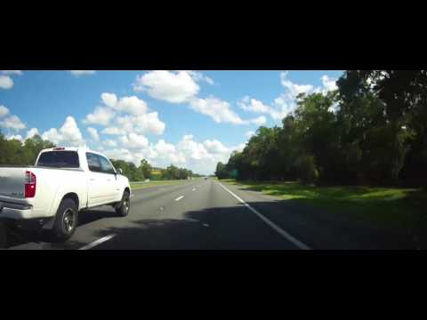 Driving on Interstate 75 from Lake City, FL to Ocala, Florida