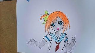 Como dibujar una colegiala manga, Como desenhar uma menina da escola, How to draw a school girl