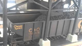 Operating coal loader Wireless controlled