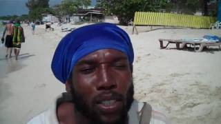 KEIWA THE MESSIAH - NEGRIL, JAMAICA FREESTYLE ON 7 MILE BEACH