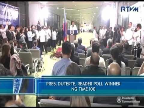 President Duterte wins TIME 100 online poll