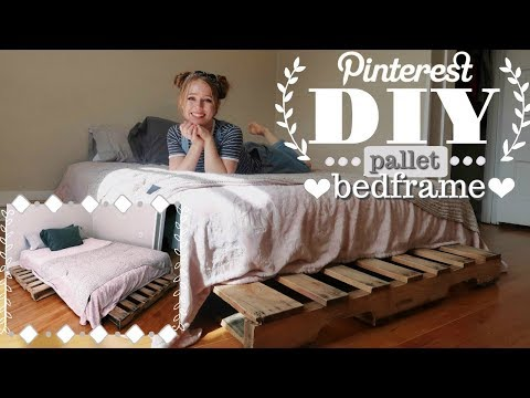 DIY Pinterest Pallet Bed Frame (Quick & Easy!)