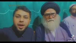 سيد فاقد الموسوي مع شبيهة السيد محمد الصدر (قدس) أثناء مراسيم تشابية مقتل المولى المقدس