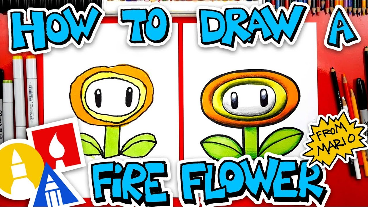 How To Draw A Fire Flower From Mario