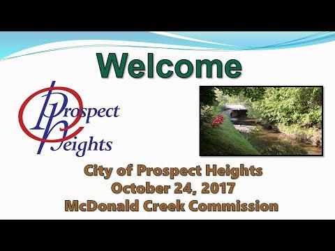 October 24, 2017 McDonald Creek Commission