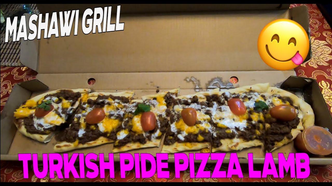Turkish Pide Pizza Lamb Dari Mashawi Grill Kita Makan Dulu Youtube