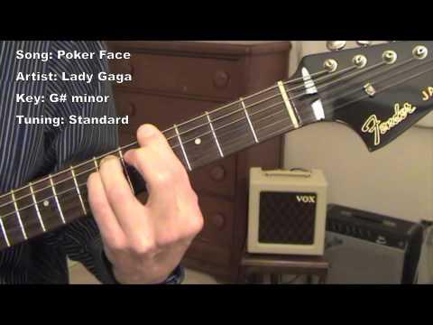poker face guitar tab