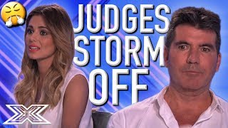 Judges WALK OUT Of Audition Room Because Act Can't Take NO For An Answer | X Factor Global