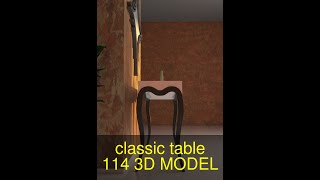 3D Model of classic table 1-14 Review