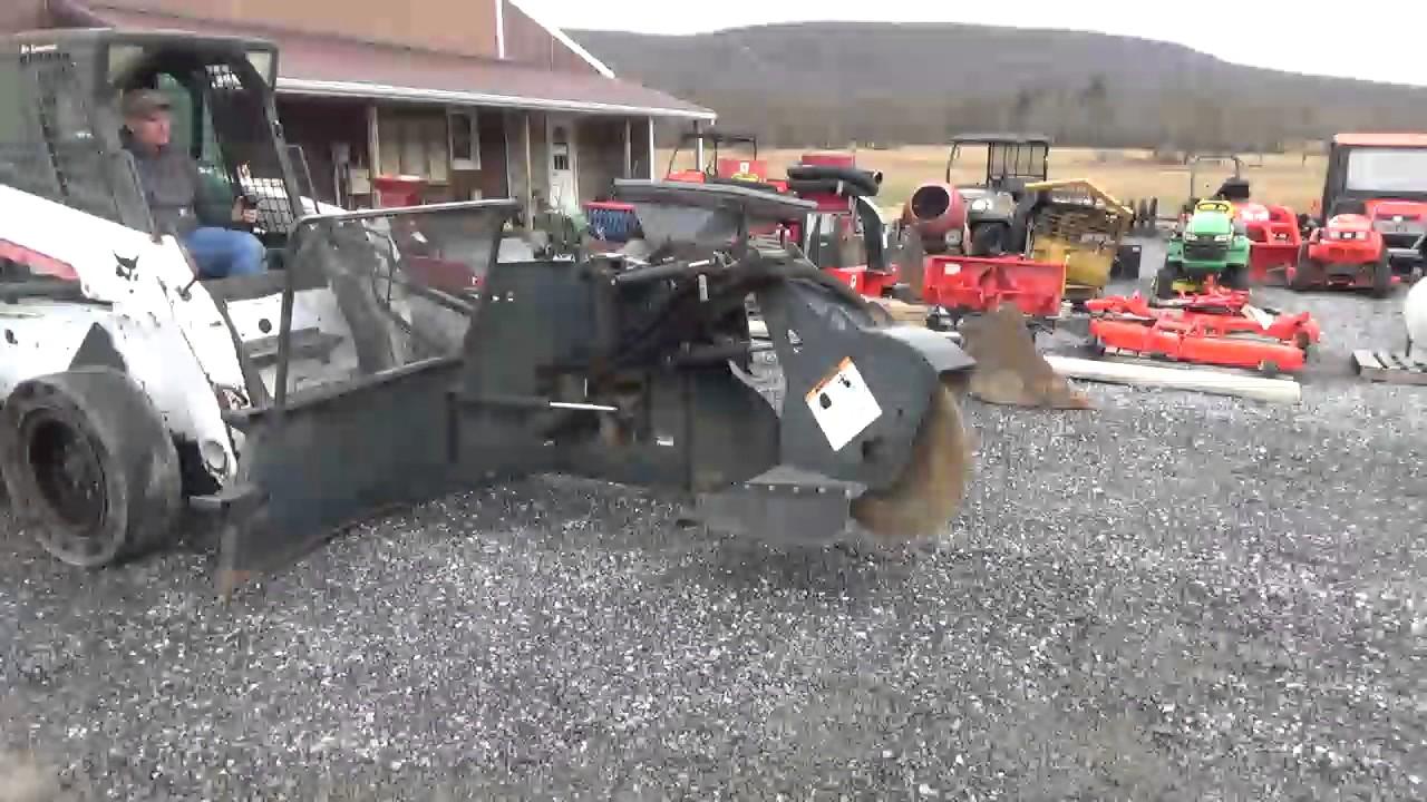 Bobcat Sg60x High Flow Skid Steer Stump Grinder For Bobcat Skid