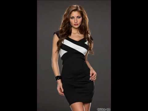 92bdb5c559 Vestido negro y blanco. Moda mujer online en España - YouTube