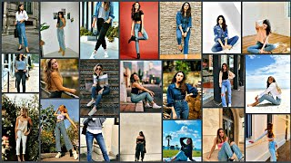 Top Jeans Poses For Girls Photo Poses For Girls In Jeans Photoshoot Ideas. Jeans Top Poses Fashion