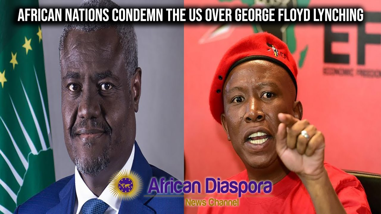 African Union & EFF Condemn The US Over George Floyd's D*ath; Liberians Protest At US Embas