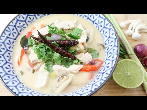 Thai Chicken Coconut Soup ต้มข่าไก่ Episode 200