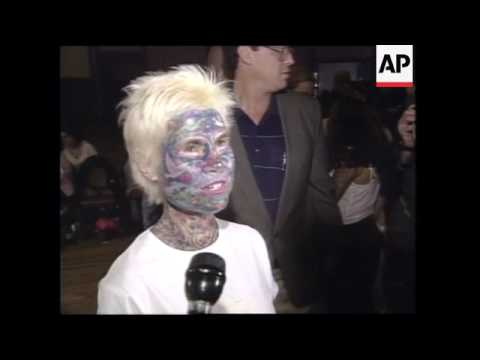 USA: HOUSTON: HUMAN ART ON DISPLAY AT TATTOO CONVENTION