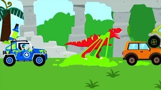Dinosaur Guard Baby Game - Play Amazing Cars To Catch Dinosaurs