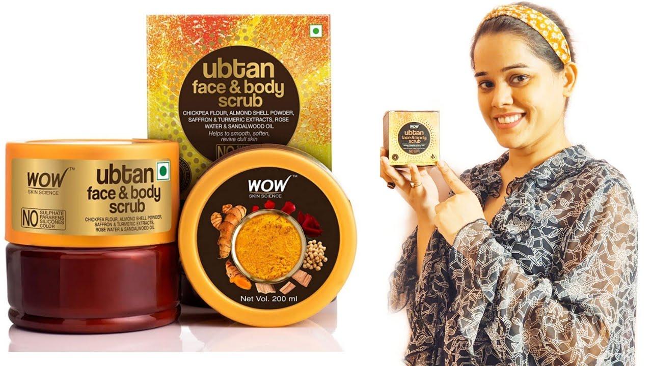 Wow skin science Ubtan face &body scrub, wow India,Be happy Priyanka