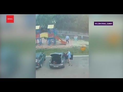 Девочка упала в дырку детского городка