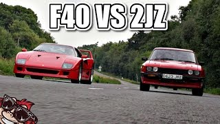 🐒 FERRARI F40 VS 2JZ SWAPPED FORD CAPRI