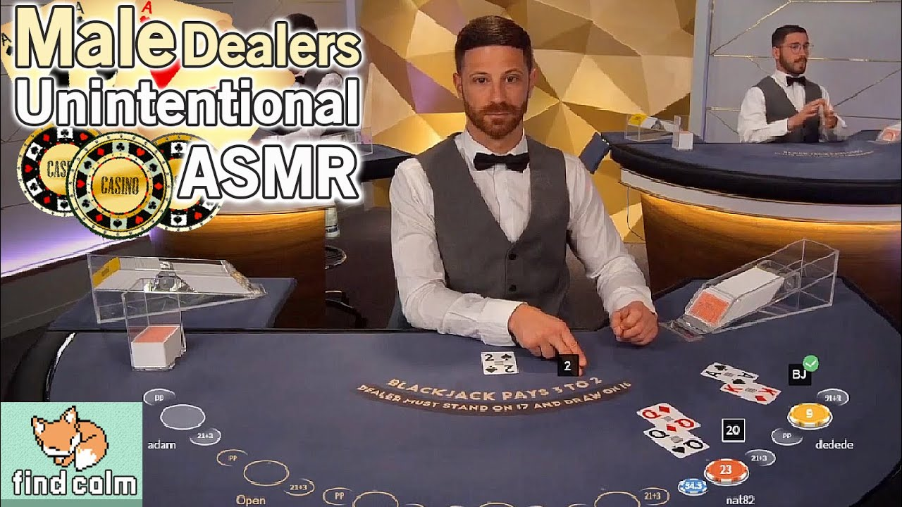 Unintentional ASMR 🤵🏼 2h MALE Casino Dealer Compilation (Blackjack, Poker, Shuffling & Mumbling)