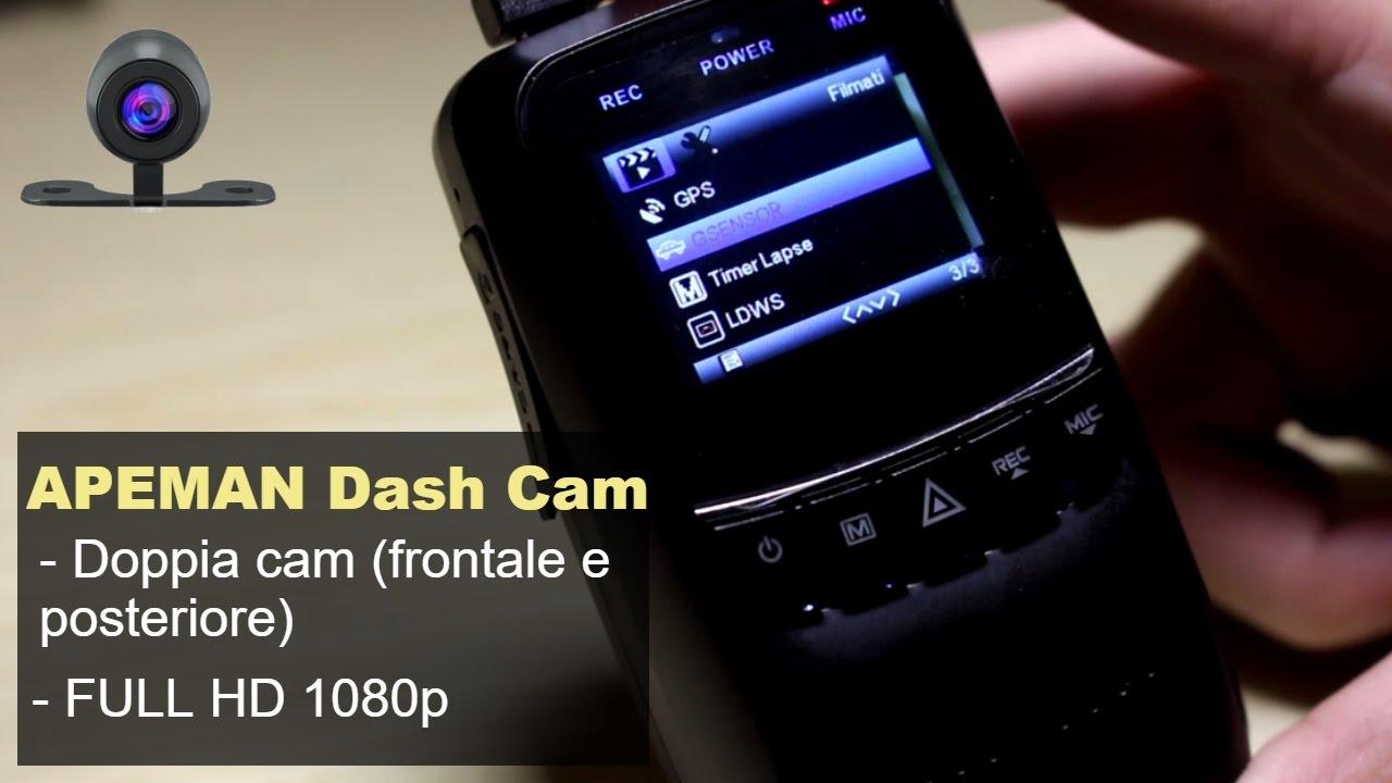 recensione dash cam per auto con monitor apeman c550. Black Bedroom Furniture Sets. Home Design Ideas